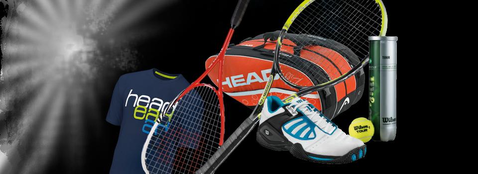 Voor alle tennis- en squash benodigdheden